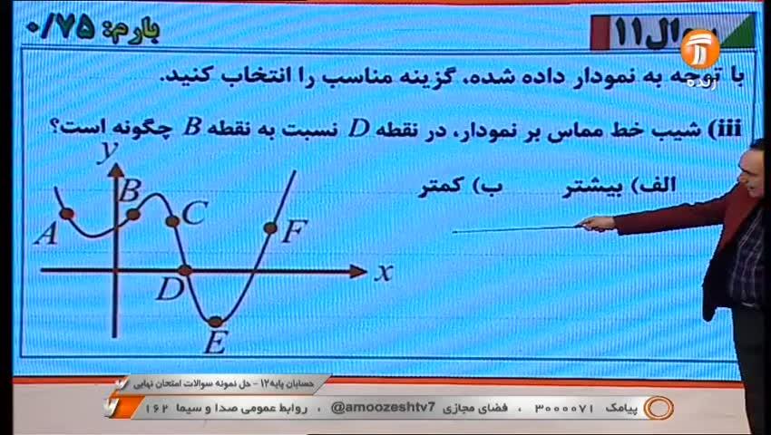 حسابان پایه 12 - حل نمونه سوال امتحان نهایی / 10 خرداد