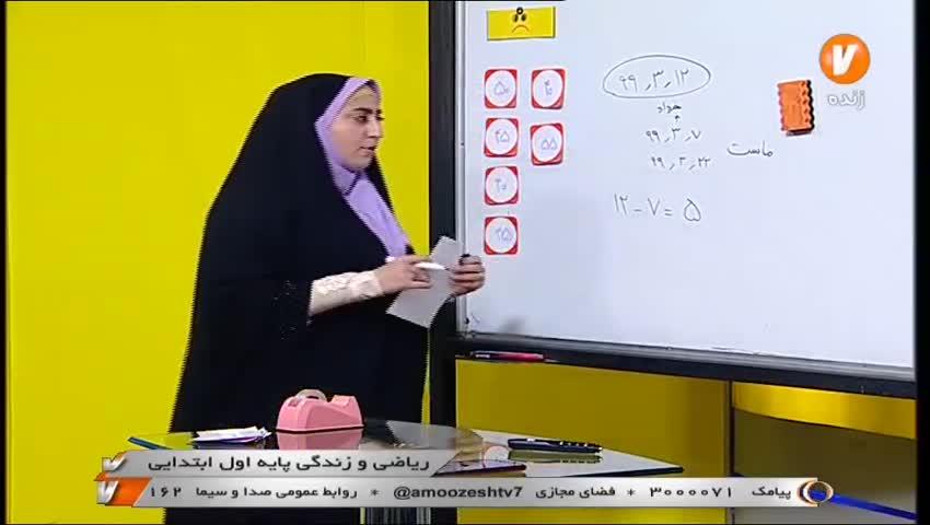 ریاضی اوا ابتدایی / 16 خرداد