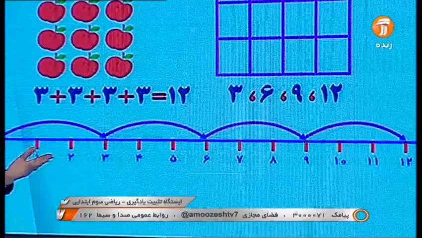 ابتدایی، ریاضی سوم ابتدایی / 16 مرداد