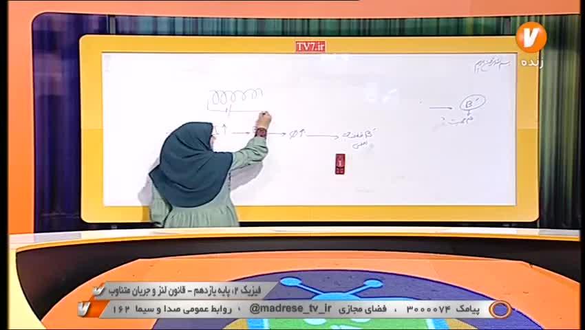 فیزیک 2 پایه 11 قانون لنز و جریان متناوب 14 شهریور 1400